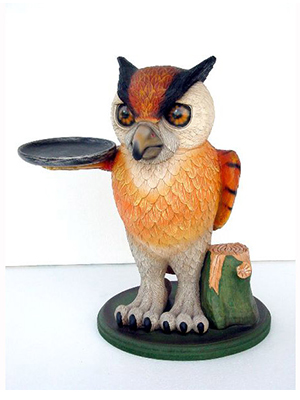 Owl with Tray - 2ft