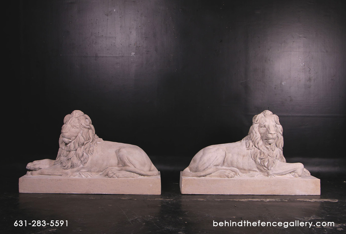 Resting Lions (Set of 2)