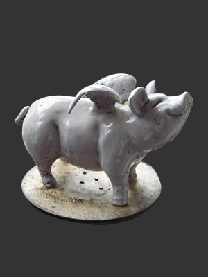 Porcelain Flying Pig