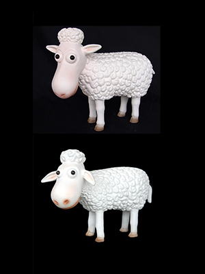 Funny Sheep 1 Ft. (Ears up or Down) - Click Image to Close