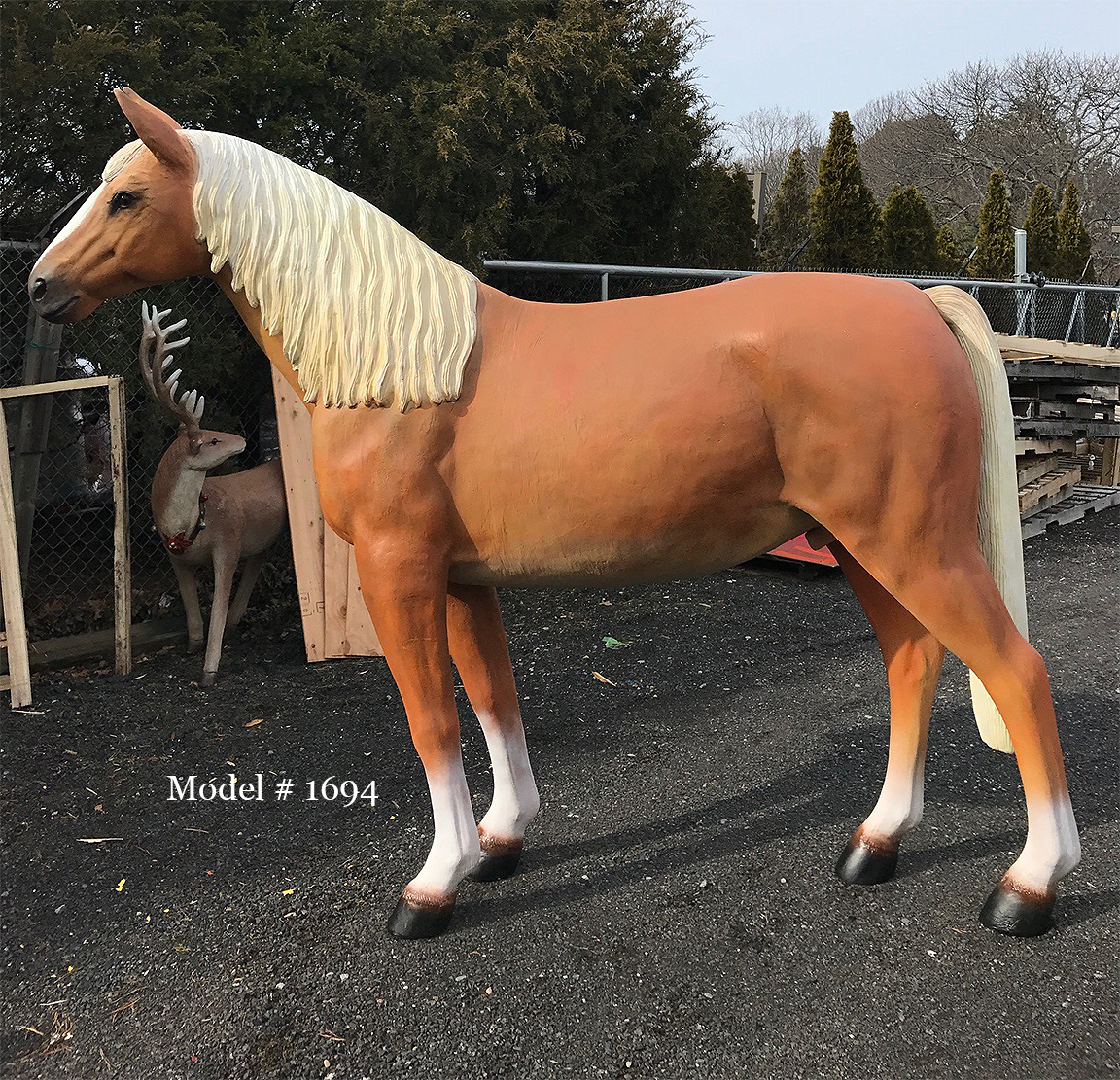 Life Size Horse with Sculpted Mane