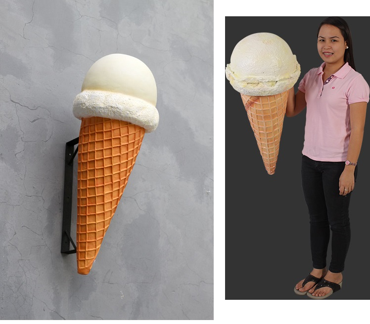 ! Hard Vanilla Ice Cream Cone Hanging (New Design) !