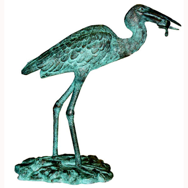 Bronze Heron with Fish