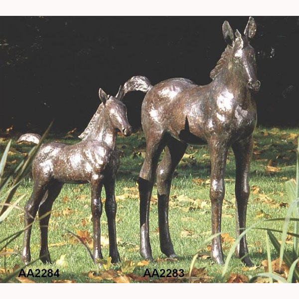 Bronze Colt/Foal and Mother Horse