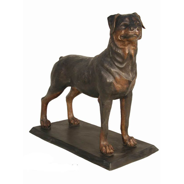 bronze rottweiler statue. Black Bedroom Furniture Sets. Home Design Ideas