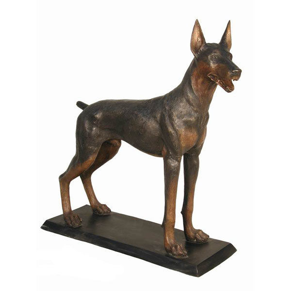 Bronze Doberman Pinscher