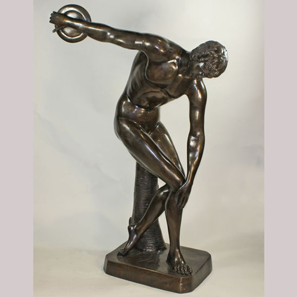 Bronze Life Size Man throwing Disc