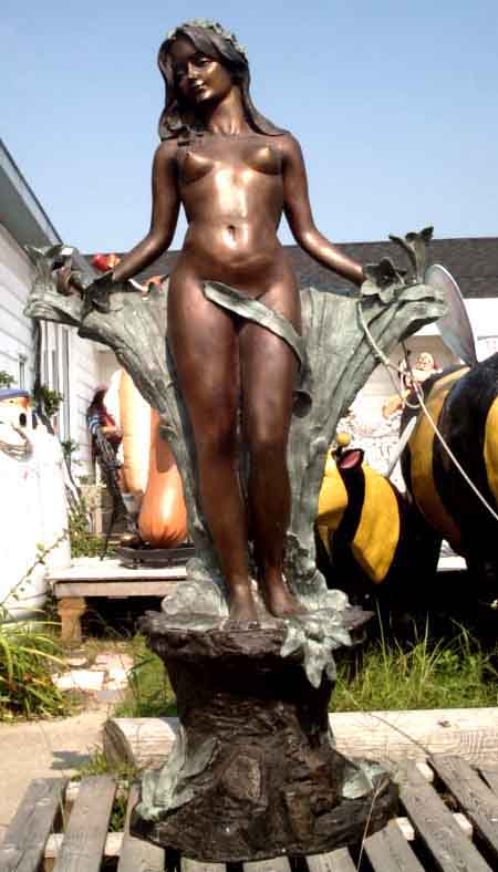 Bronze Flower Child Fountain
