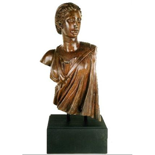 Greco-Roman Bronze Bust, Female