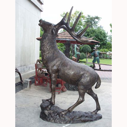 bronze elk statue. Black Bedroom Furniture Sets. Home Design Ideas