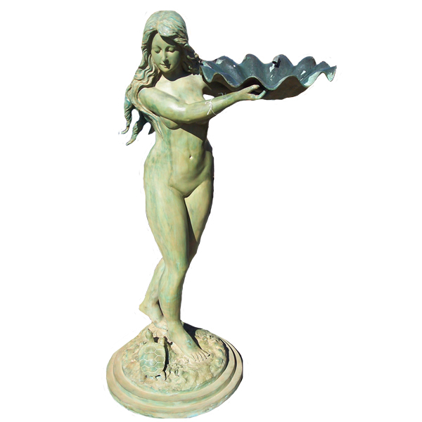 Bronze Female holding Shell