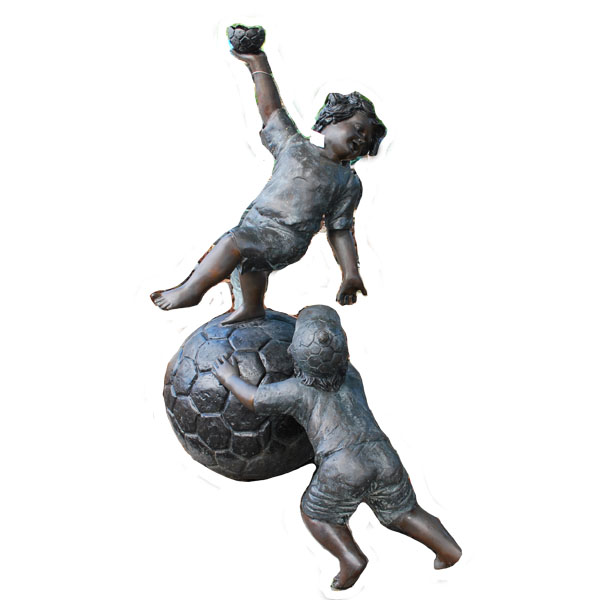Bronze Two Boys on the Ball