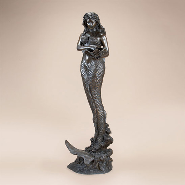 Bronze Mermaid with Shells Fountain