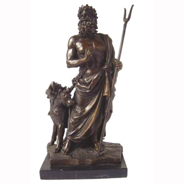 Bronze Zeus with Marble Base