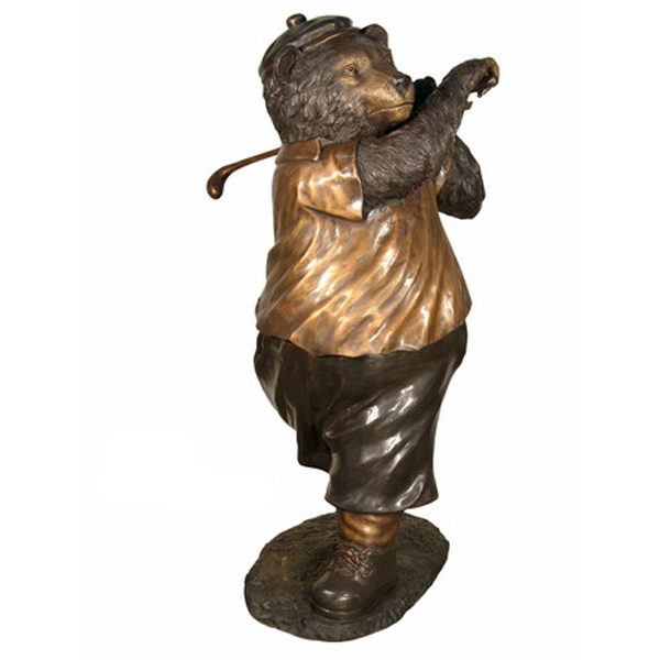 Bronze Bear playing Golf