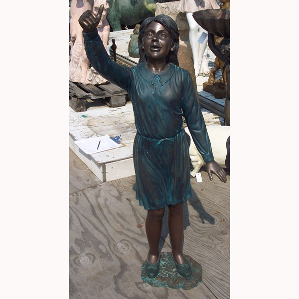 Bronze Girl Wearing Dress