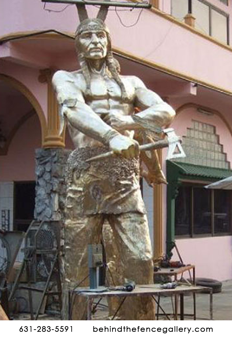 Bronze Indian Brave Colossal Size