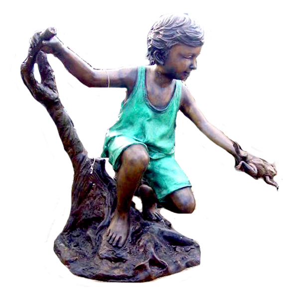 Bronze Girl with Frog