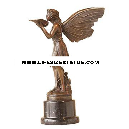 Bronze Angel with Marble Base