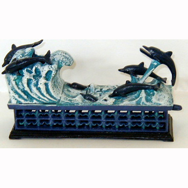 Cast Iron Mechanical Dolphine Bank