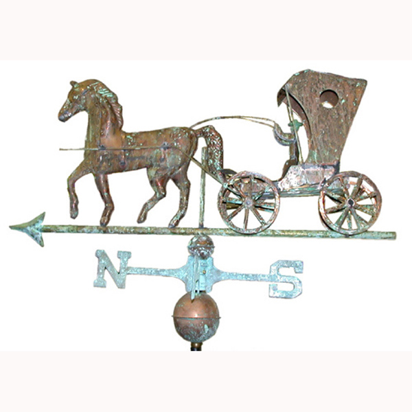 Horse and Buggy Weather Vane