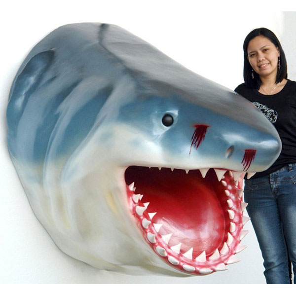 Jumbo Shark Head Wall Mount