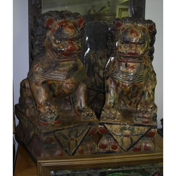 Hand Carved Foo Dogs