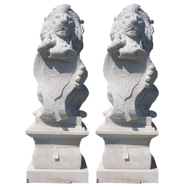 Marble Lion (pair)