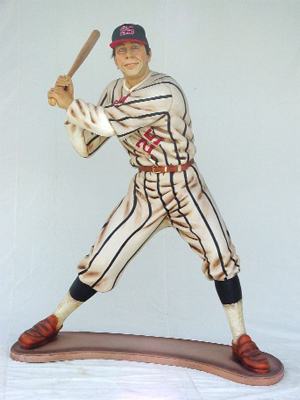"Baseball Player 36"" Statue"