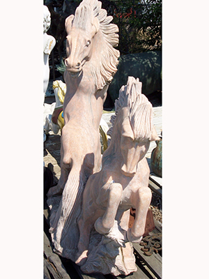 Marble Pink Horses