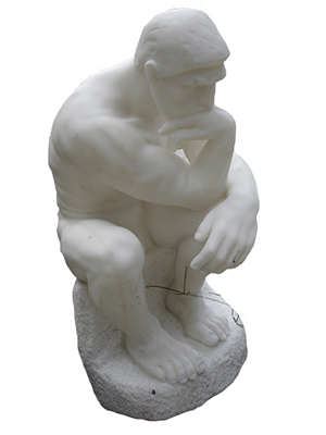 """ The Thinker "" Marble Statue by Auguste Rodin"