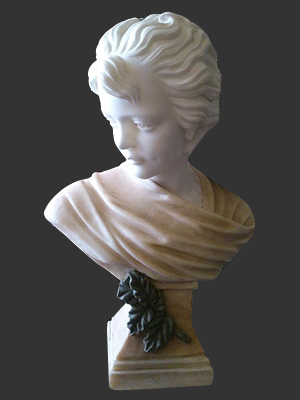Bust of Woman With Leaf