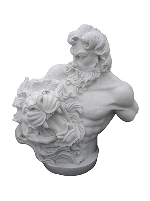 Marble Zeus Bust with Lion Head