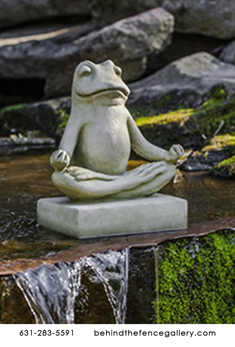 Cast Stone Mini Zen Frog