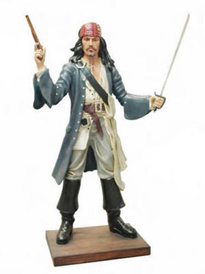 Pirate with Gun 6ft.