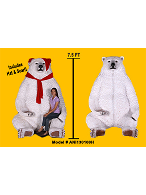 7.5 Ft. Sitting Christmas Polar Bear