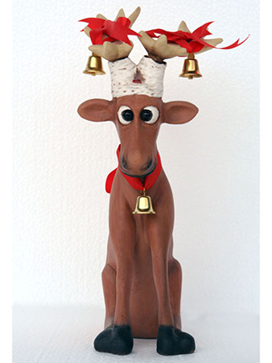 Christmas Funny Reindeer Sitting 1 Ft.