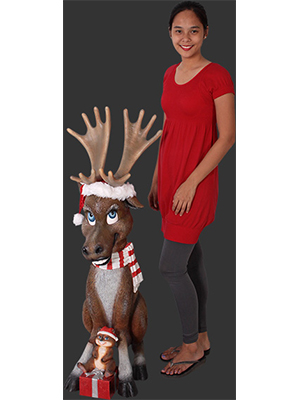 Funny Reindeer with Gifts