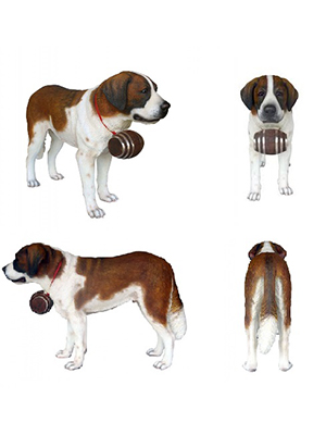 St. Bernard Dog 3 ft.
