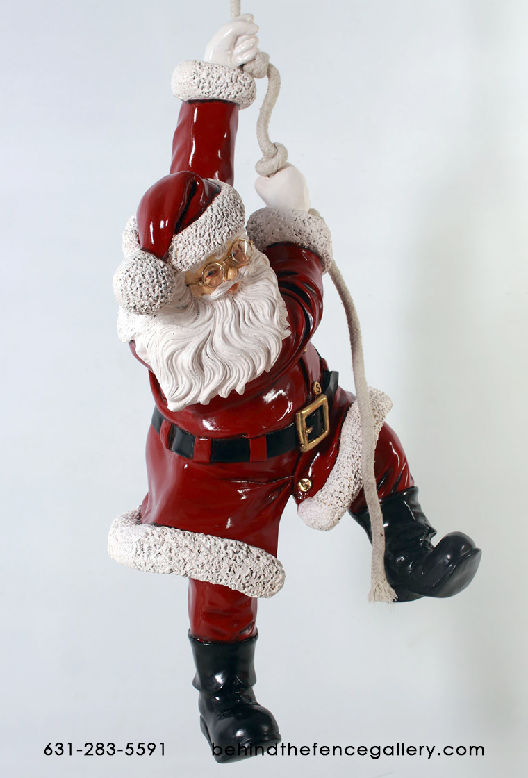 Santa Hanging from Rope Decor - 3FT.