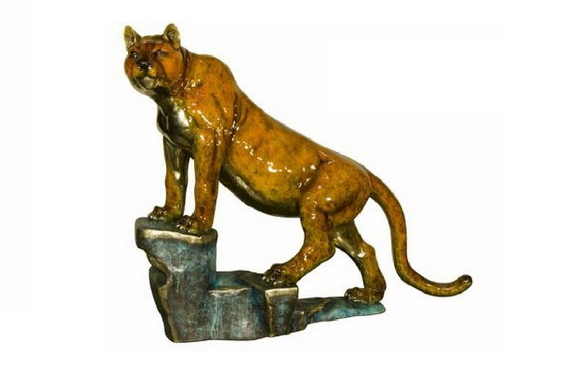 Bronze Tiger On The Rock