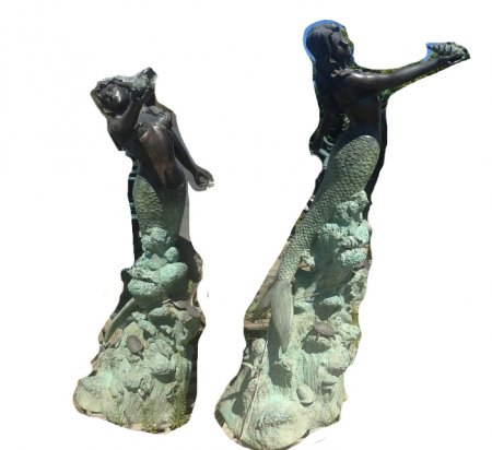 Bronze Sea Mermaid on Base