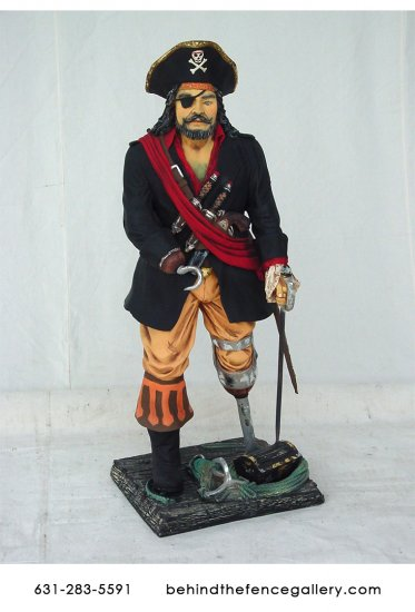 Pirate Captain Statue 3ft 3ft Pirate Captain On Stand