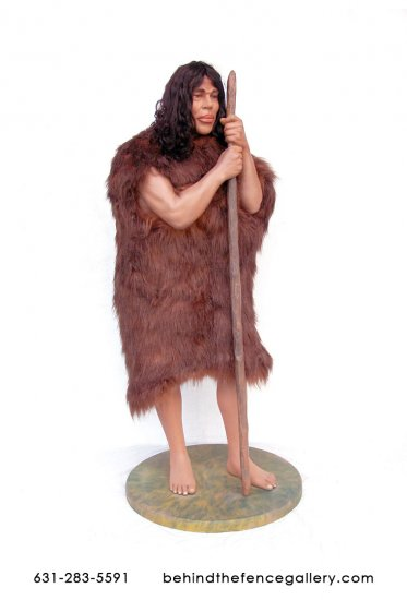 Prehistoric Cave Man Statue - Click Image to Close