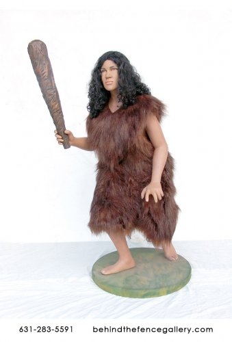 Prehistoric Cave Woman Statue