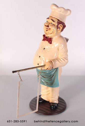 Cook Statue with Menu Holder - 2ft.