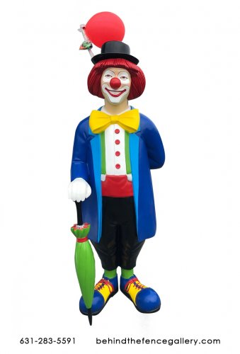 Clown Statue with Balloon Holder