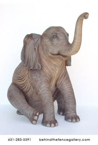 Elephant Sitting Fountain Statue