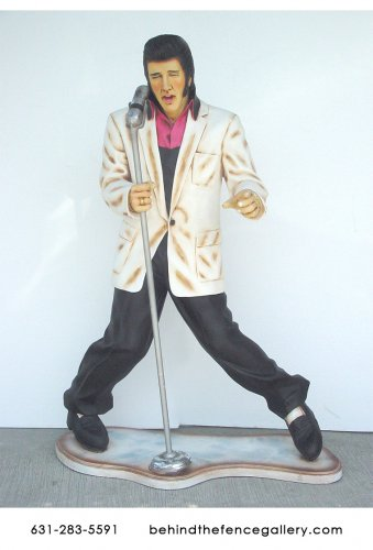 Elvis Presley at Microphone Statue