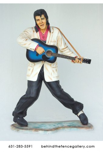 Elvis Presley Playing Guitar Statue